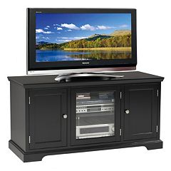 Leick Furniture Black Finish 2-Door TV Stand