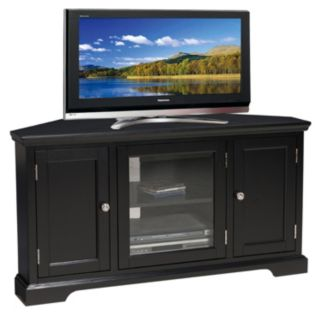 Leick Furniture Black Finish 2-Door Corner TV Stand