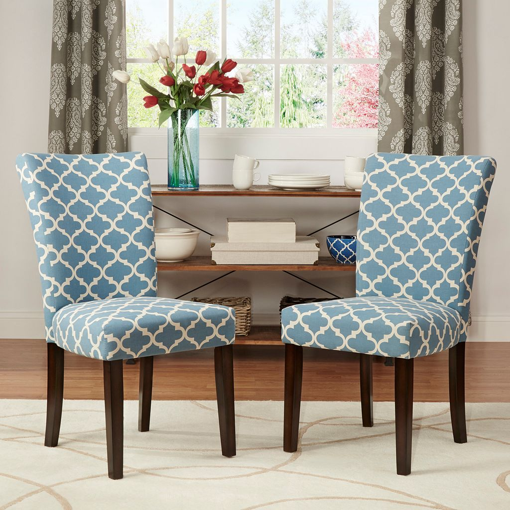 HomeVance 2-piece Salma Moroccan Trellis Side Dining Chair Set