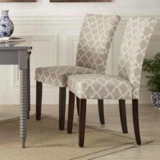 HomeVance 2-piece Salma Moroccan Trellis Side Dining Chair Set