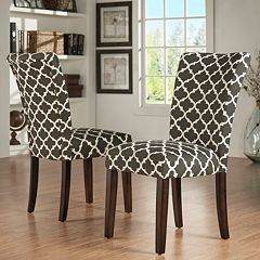 HomeVance 2 pc Salma Moroccan Trellis Side Dining Chair Set