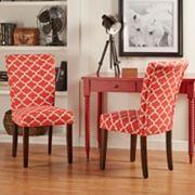 HomeVance 2 pc Salma Moroccan Trellis Side Dining Chair Set