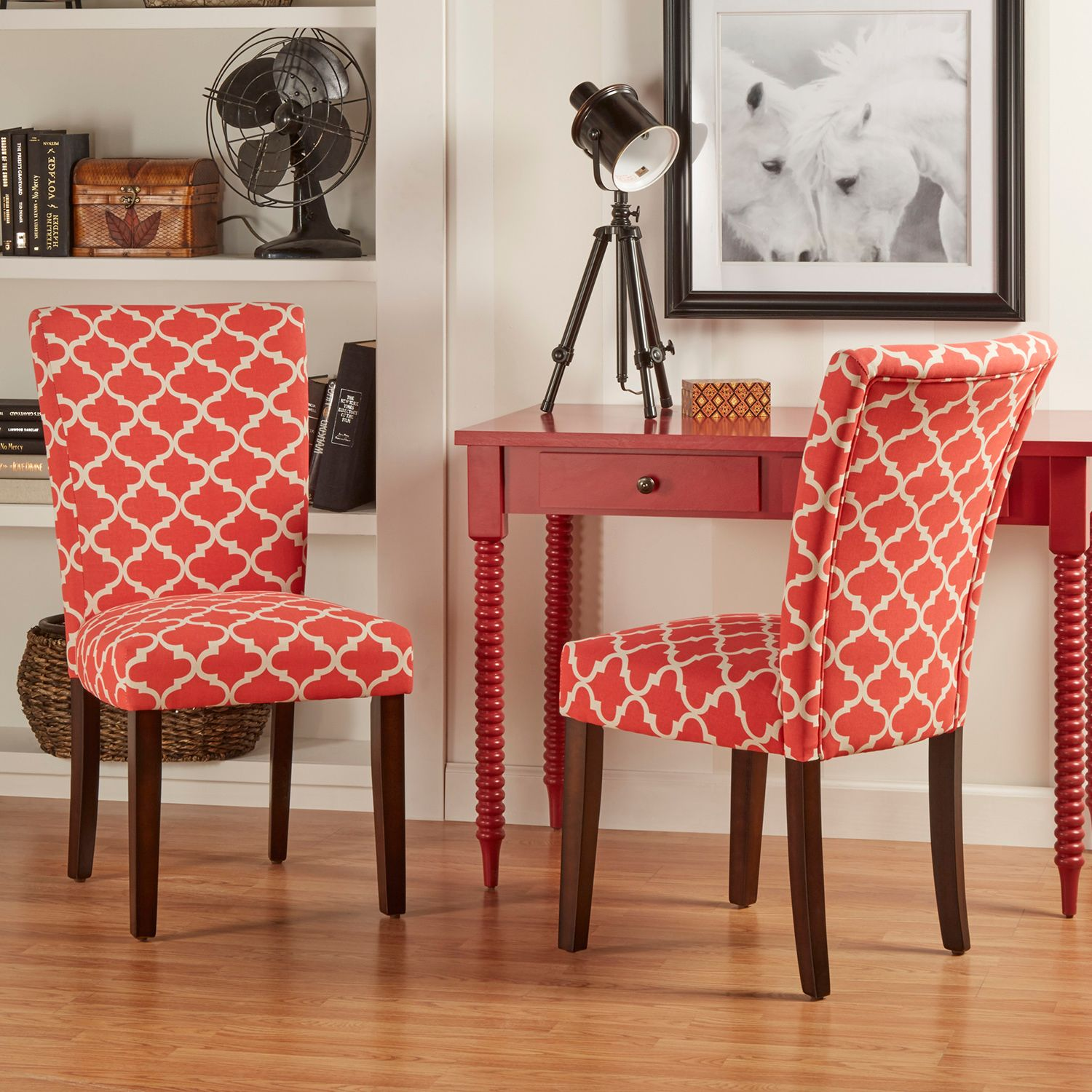 HomeVance 2 Piece Salma Moroccan Trellis Side Dining Chair Set