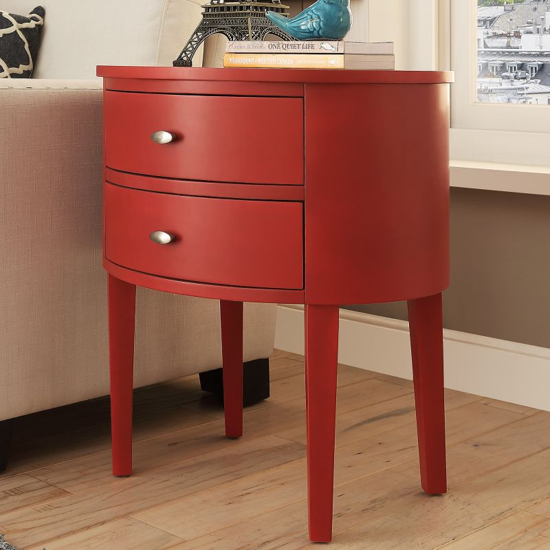 HomeVance Tenyson End Table, Red