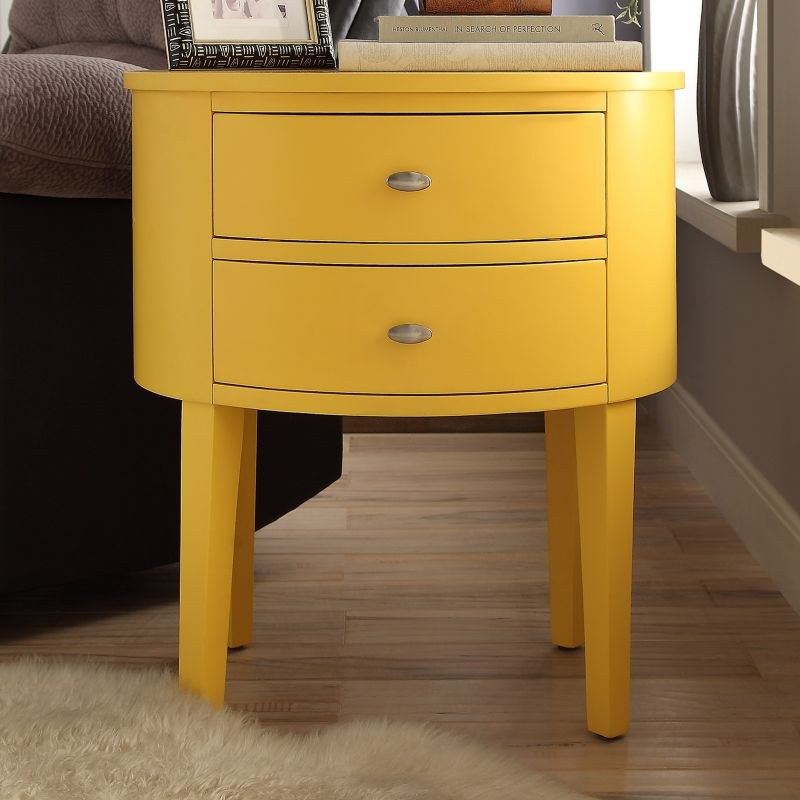 HomeVance Tenyson End Table, Yellow