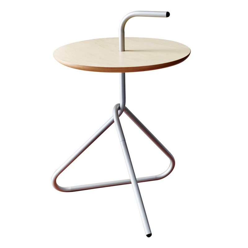 Adesso Elroy End Table, Silver