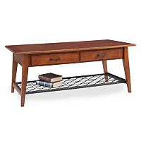 Leick Furniture Westwood Oak Finish 2-Drawer Coffee Table
