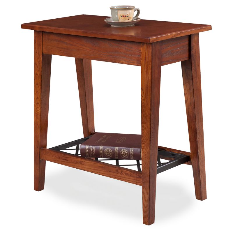 Leick Furniture Westwood Oak Finish Narrow End Table, Other Clrs