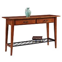 Leick Furniture Westwood Oak Finish 2-Drawer Sofa Table