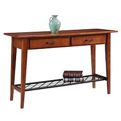Leick Furniture Westwood Oak Finish 2-Drawer Sofa Table