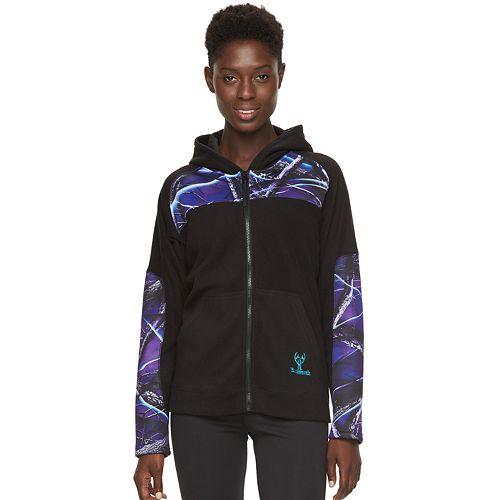 Women's Huntworth Hooded Colorblock Fleece Hiking Jacket