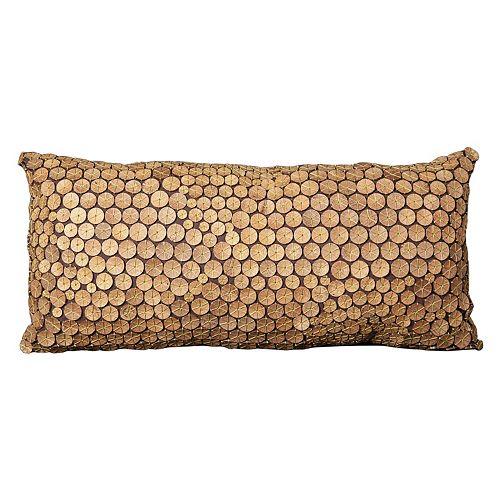 Mina Victory Oblong Button Throw Pillow