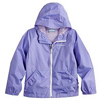 Toddler Girl Columbia Lightweight Solid Rain Jacket