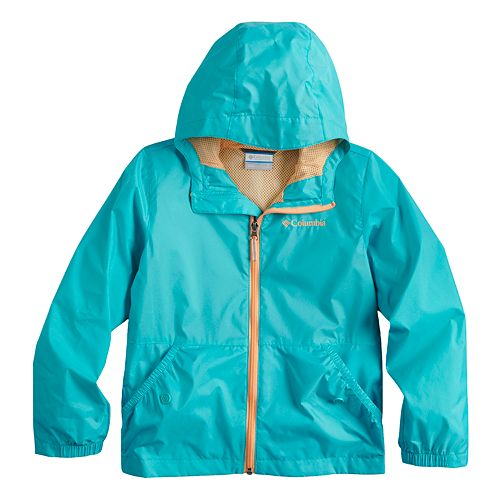 Toddler Girl Columbia Lightweight Solid Rain Jacket