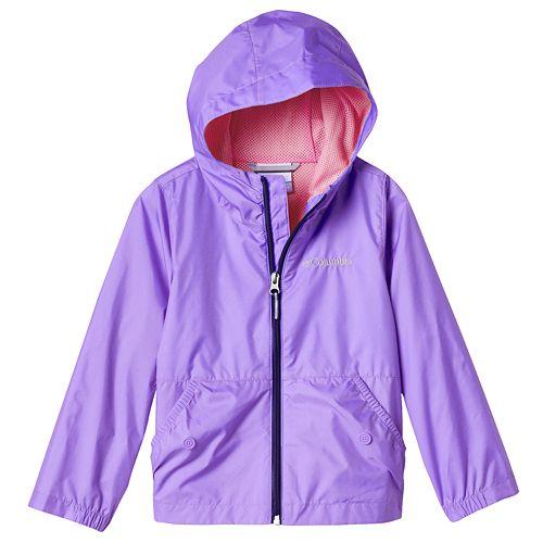 Girl Columbia Lightweight Solid Rain Jacket