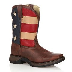 Lil Durango Kids' American Flag 8 in Western Boots