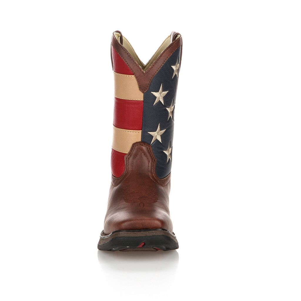Lil Durango Kids' American Flag 8-in. Western Boots