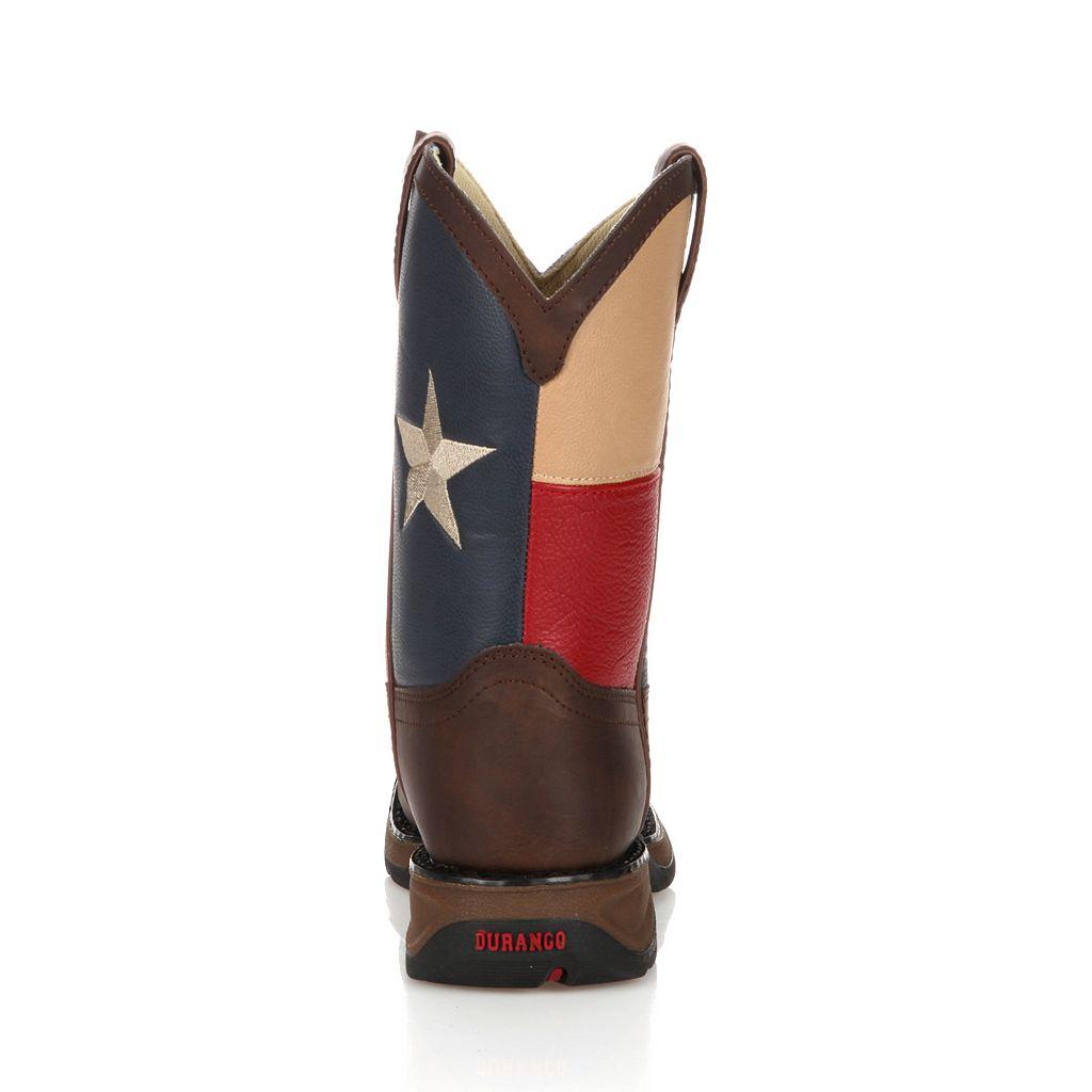 Lil Durango Kids' Texas Flag Western Boots
