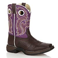 Lil Durango Girls' 8 in Saddle Western Boots