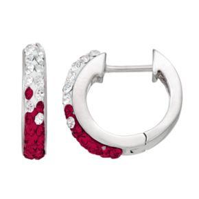 Florida State Seminoles Crystal Sterling Silver Huggie Hoop Earrings