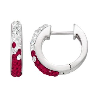Florida State Seminoles Crystal Sterling Silver Huggie Hoop Earrings