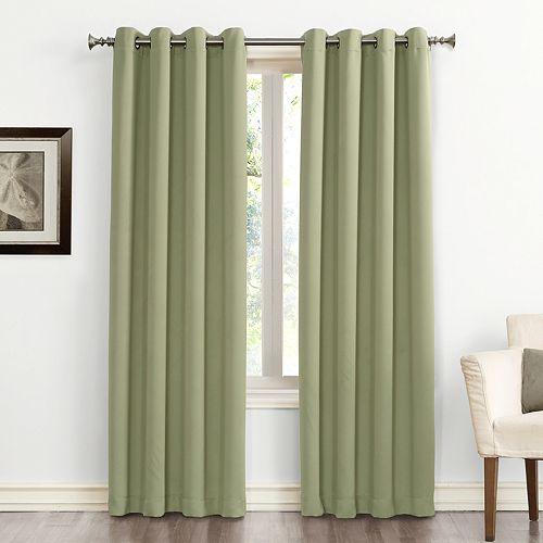 Sun Zero Blackout 1-Panel Ludlow Grommet Window Curtain
