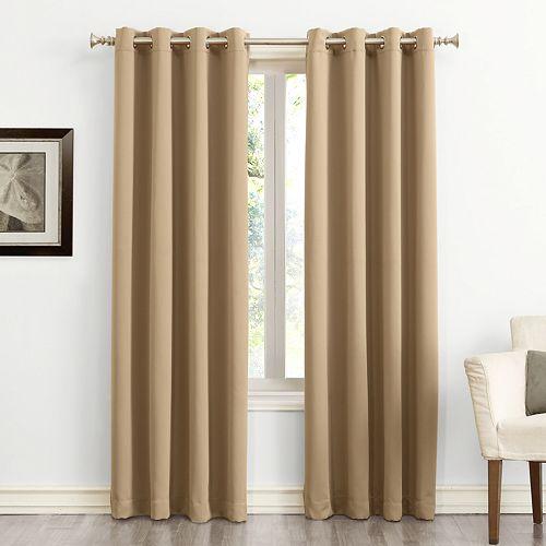 Sun Zero Blackout 1 Panel Ludlow Grommet Window Curtain