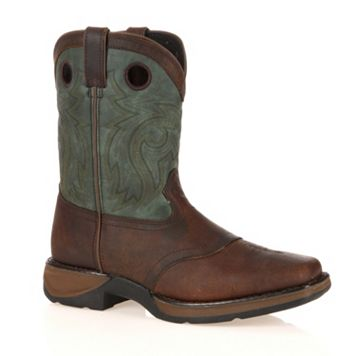 Lil Durango Boys' Full Grain 8-in. Saddle Western Boots