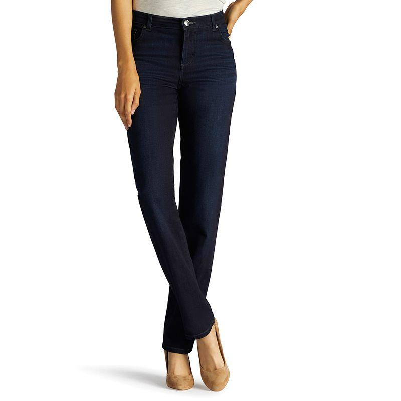 Women's Lee Relaxed Fit Straight Leg Jeans, Size: 4 - regular, Dark Blue