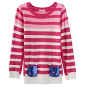 Design 365 Stripe Sweater - Girls 4-6x