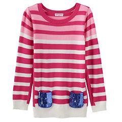 Design 365 Stripe Sweater - Girls 4-6x