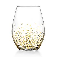 Fitz & Floyd Luster 4 pc Stemless Glass Set