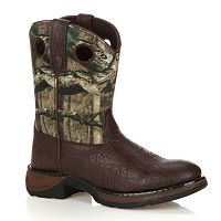 Lil Durango Boys' 8 in Mossy Oak Break-Up Western Boots