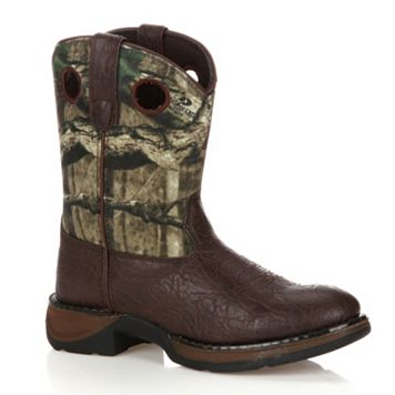 Lil Durango Boys' 8-in. Mossy Oak Break-Up Western Boots