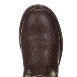 Lil Durango Boys' 8-in. Mossy Oak Break-Up Western Boots
