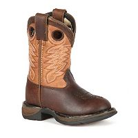 Lil Durango Full Grain Raindrop Boys' 8 in Cowboy Boots