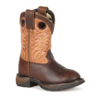 Lil Durango Full Grain Raindrop Boys' 8-in. Cowboy Boots