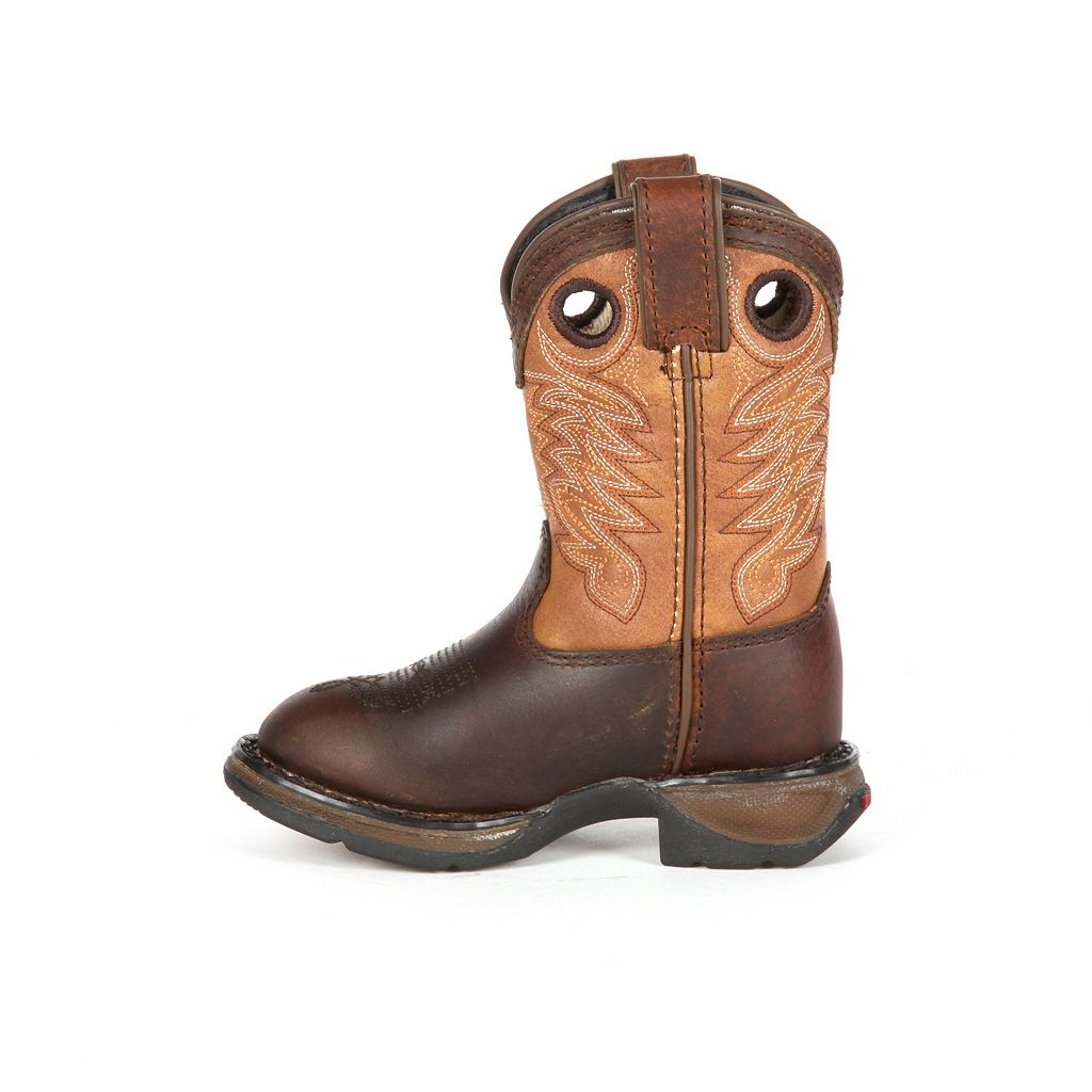 Lil Durango Full Grain Raindrop Boys' 8-in. Cowboy Boots
