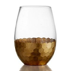 Fitz & Floyd Daphne 4 pc Stemless Glass Set
