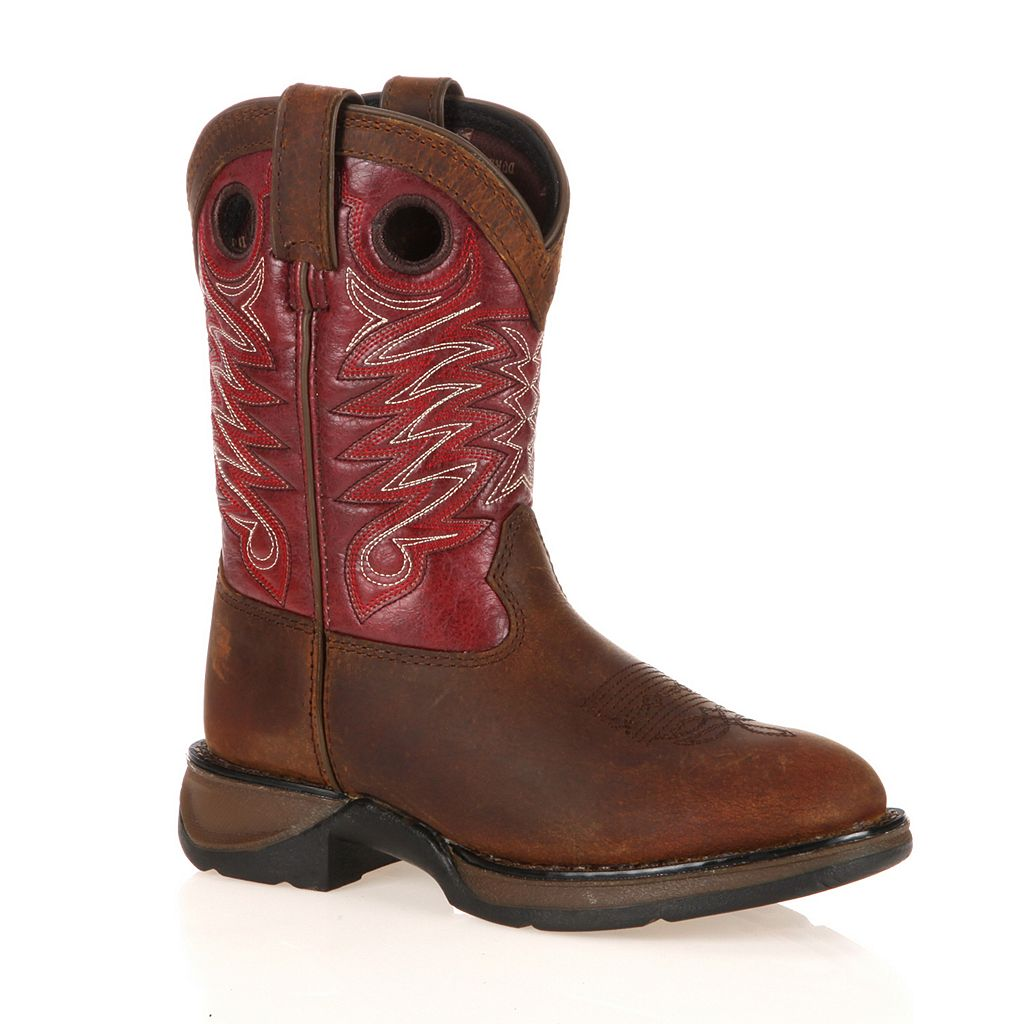 Lil Durango Full Grain Raindrop Kids' 8-in. Cowboy Boots