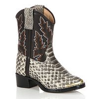 Lil Durango Baby Snake Print Cowboy Boots