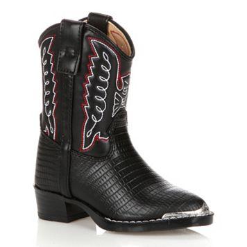 Lil Durango Boys' Lizard Skin Cowboy Boots