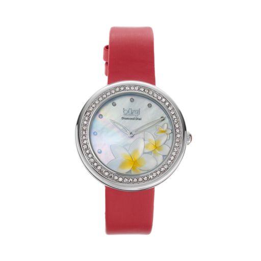 burgi Women's Leather Watch
