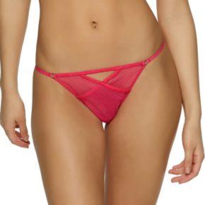 Jezebel Niki Sheer Stripe Thong Panty 539978 - Women's