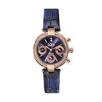 burgi Women's Leather Watch