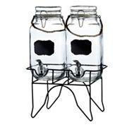 Style Setter Newcastle Chalkboard Glass Beverage Dispenser Set
