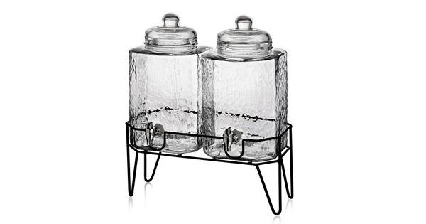 style setter hamburg 2 pc glass beverage dispenser set with stand. Black Bedroom Furniture Sets. Home Design Ideas