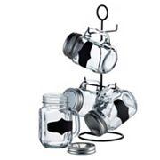 Style Setter SoHo Blackboard 5 pc Mason Jar Glass Set
