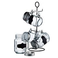 Style Setter SoHo Blackboard 5 pc Mason Jar Glass Set
