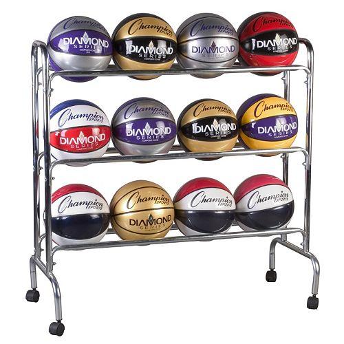 Champion Sports 12-Ball Basketball Cart